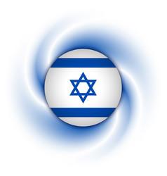 israeli flag background vector image