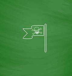 Jolly Roger computer symbol vector image