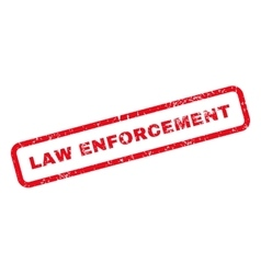 Law Enforcement Text Rubber Stamp vector