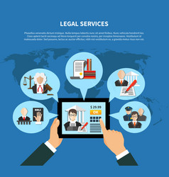law in app composition vector image