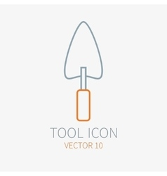 Line working color trowel for construction vector