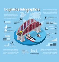 logistic infographics urban road vector image