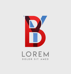 logo letters with blue and red gradation vector image