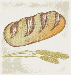 Long loaf vector image