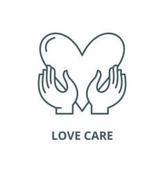 love care line icon linear concept vector image