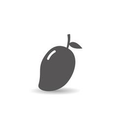 mango fruit icon simple flat style vector image