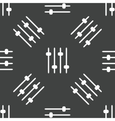 Mixing console faders pattern vector image