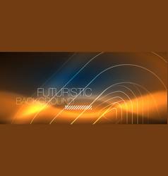 neon glowing techno lines hi-tech futuristic vector image