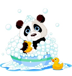 Panda bath vector