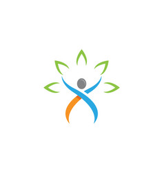 People healthy life logo template vector