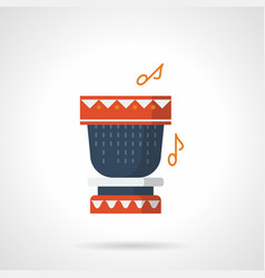 percussion instrument flat color icon vector image