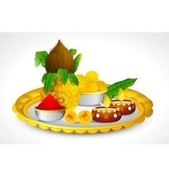 Puja Thali vector