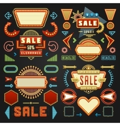 Retro American 1950s Sign Design Elements Set vector image