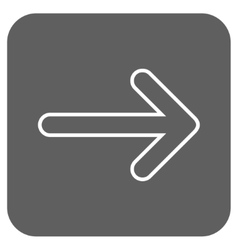 Rounded Arrow Right Flat Squared Icon vector