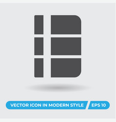 sketchbook icon simple sign for web site and vector image