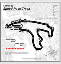 speed track background with city vector image