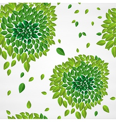 Spring time contemporary green leaves seamless vector