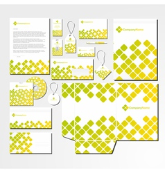 Stationery set with abstract pattern vector