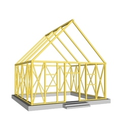 Structure of house in construction vector