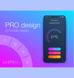 Timer clock application ui design concept ux vector