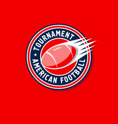 tournament logo american football vector image