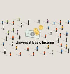 Universal basic income ubi is government guarantee vector