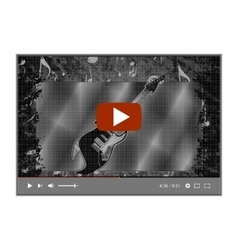 video player with a musical background electric vector image
