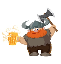 viking and beer vector image
