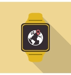 Watch icon Wearable technology design vector