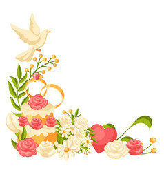 Wedding frame for invitation or greeting card vector