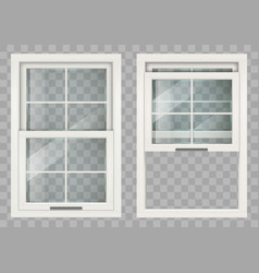 Wooden sliding window vector