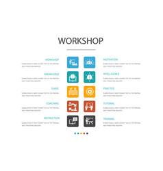Workshop infographic 10 option conceptmotivation vector