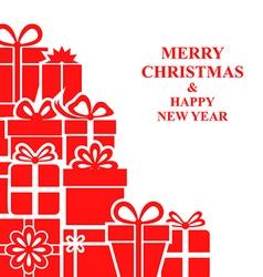 xmas gift card vector image