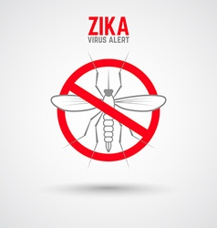 Zika virus alert Moskit with phrase vector image