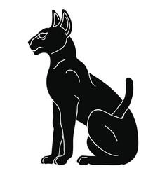 egyptian sphynx cat vector image