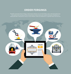 ordering forged products online vector image vector image
