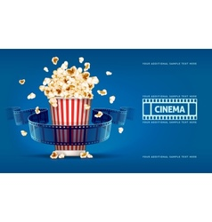 Popcorn for movie theater and vector image vector image