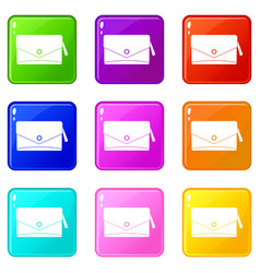 small bag icons 9 set vector image vector image