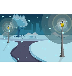 Street lights background vector image vector image