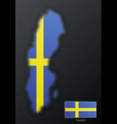 Sweden map vector image vector image
