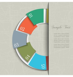 Half circle design template for infographics vector image vector image