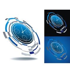 logo time segment vector image vector image