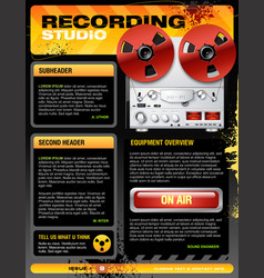 sound recording studio brochure flyer detailed vector image