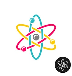 Atom logo Colorful physics science concept symbol vector image