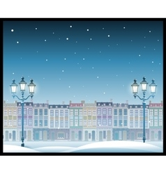 Christmas town Seamless pattern vector image