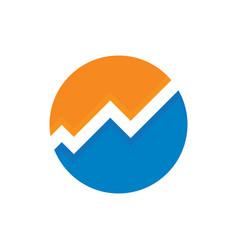 circle chart finance logo vector image