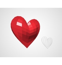 Heart from Squares vector image