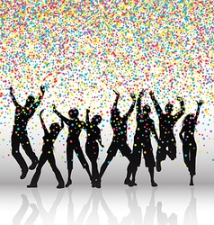 party people on confetti background 0709 vector image vector image