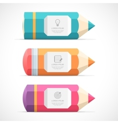 Set of colorful pencil banners vector image vector image