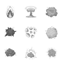 a set of icons about the explosion various vector image vector image